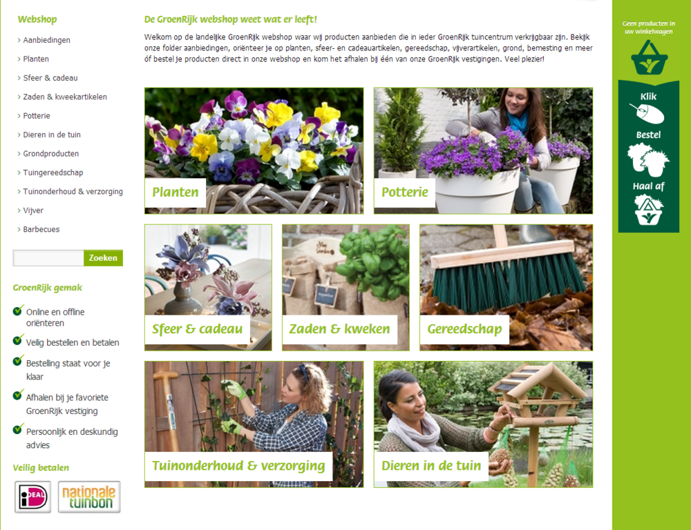 Garden Connect develops new webshop Dutch GroenRijk franchise