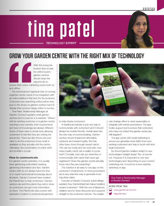 Grow your garden centre with the right technology mix