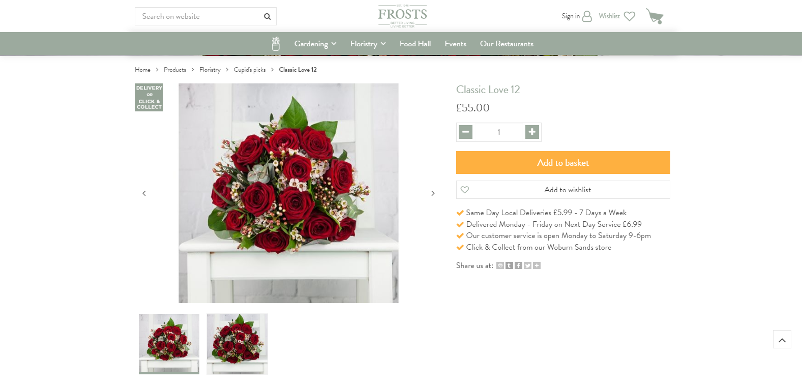 Do you sell flowers online?