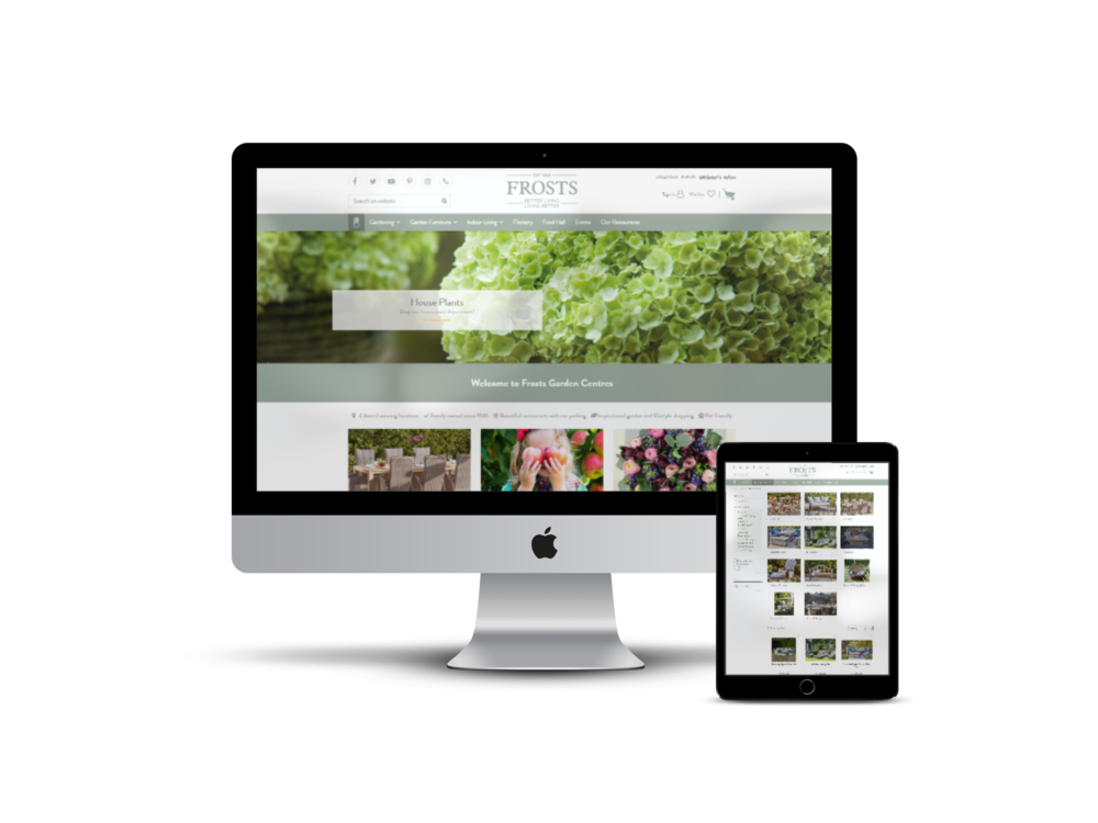 Garden Connect renews webshop Frosts Garden Centres