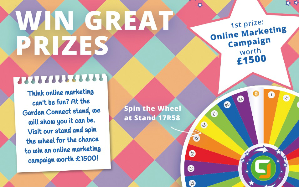 Spin the Wheel at Garden Connect to Win a £1,500 Online Campaign