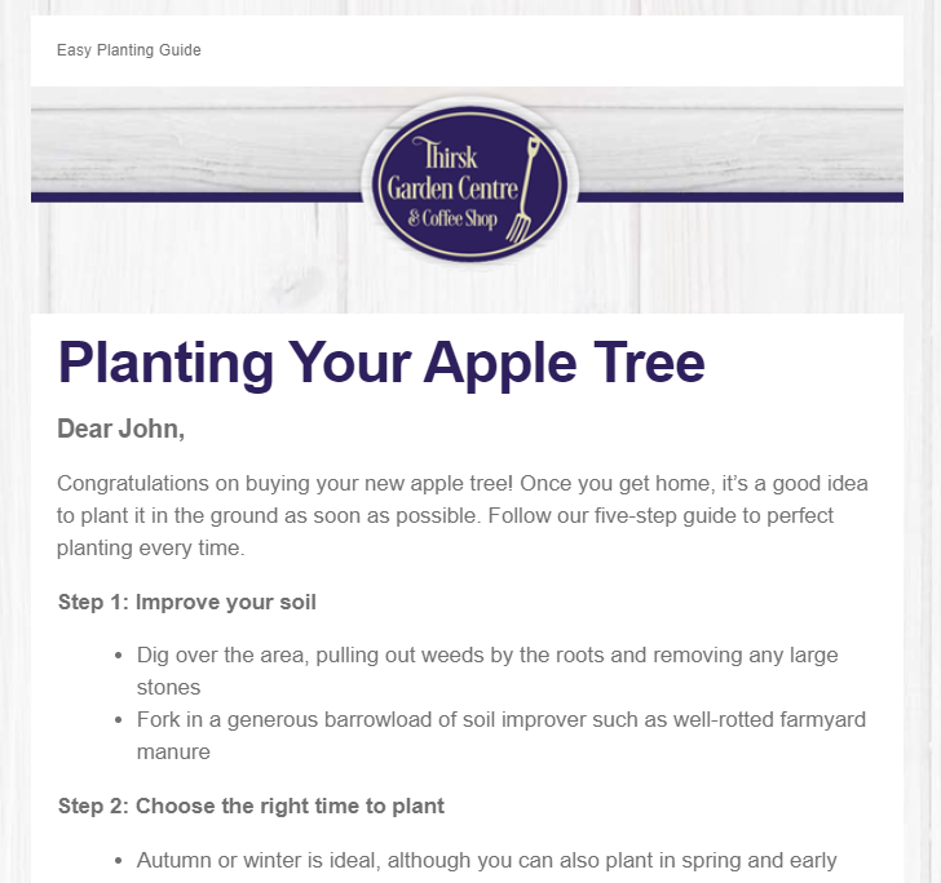 Planting your apple tree